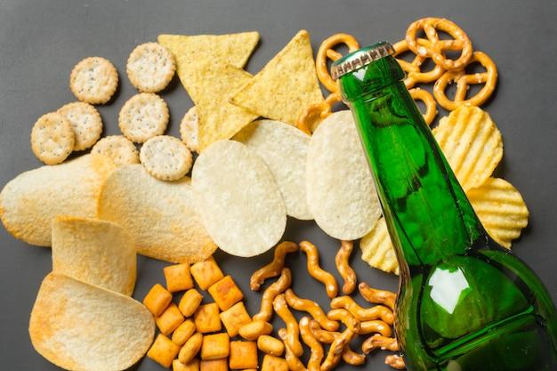 Salty snacks. pretzels, chips, crackers