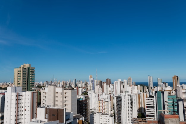 Salvador bahia brazil skyline buildings aerial view.