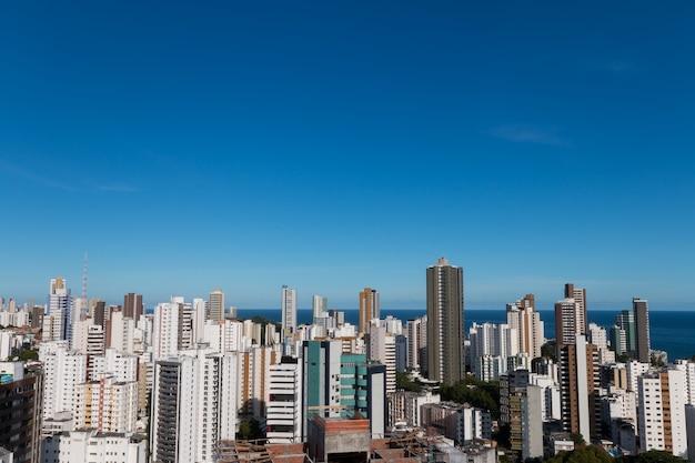 살바도르 바이아 브라질 스카이 라인 건물 조감도.
