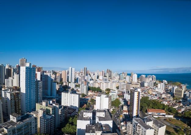 Salvador bahia skyline brazil aerial drone panoramic view view of urban buildings