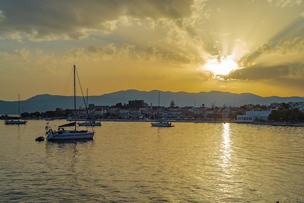 Samos island, greece: sunset at pythagorion/pythagoreio