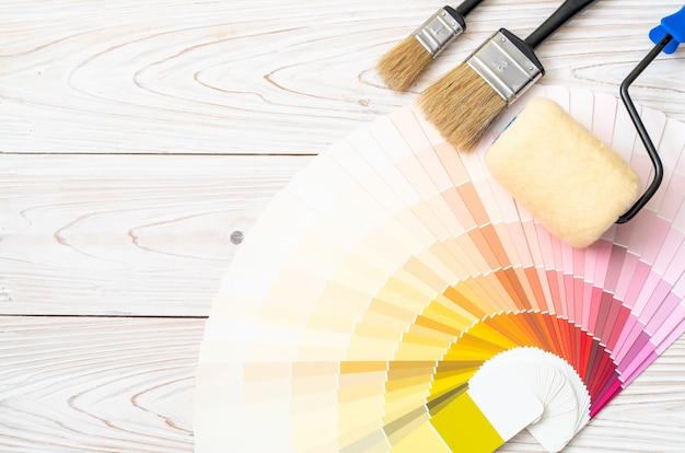 Пример цветового каталога с инструментами