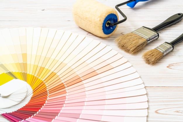 Типовой каталог цветов или книга образцов цветов
