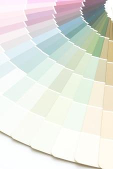 Sample colors catalogue pantone
