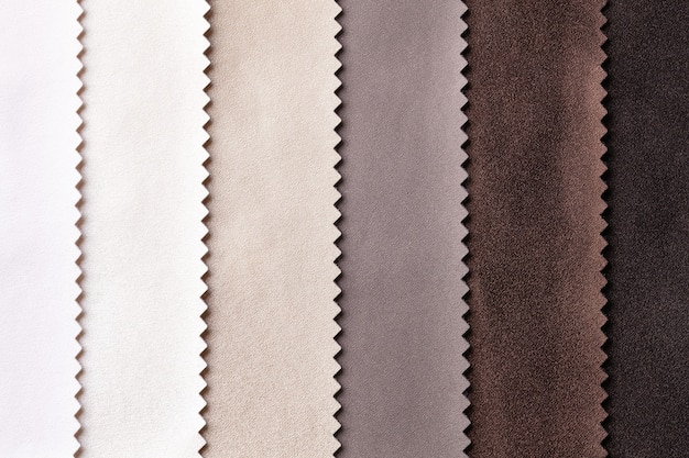 Sample of leather textile brown and beige colors