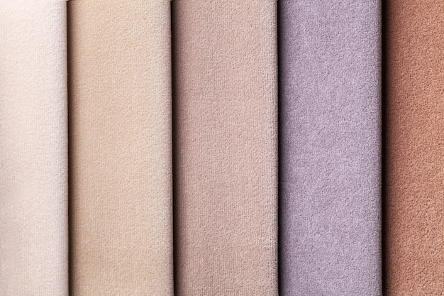 Sample of velvet textile brown and beige colors, background