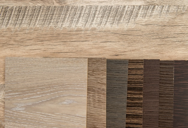 Sampler furniture material dor design or decoration interior