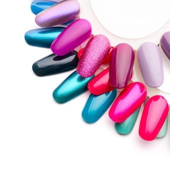 Образцы блесток для ногтей