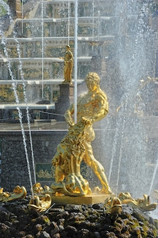 Samson fountain in peterhof