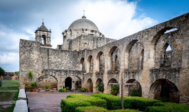 San antonio, texas usa mission san jose national park service exterior side view