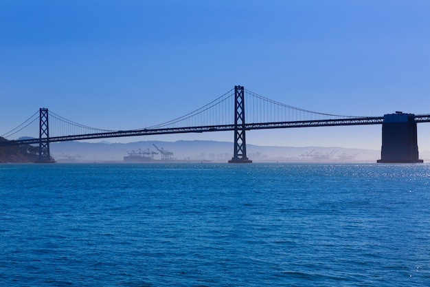 San francisco bay bridge from pier 7 california
