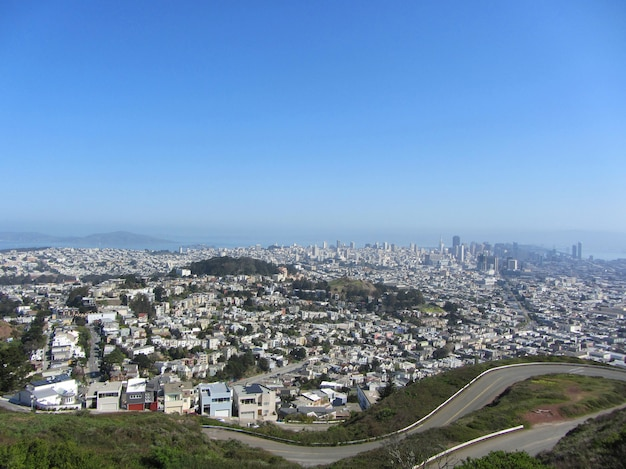 San francisco, ca, usa, san francisco view from twin peaks.