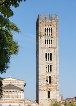 The san frediano church tower in lucca
