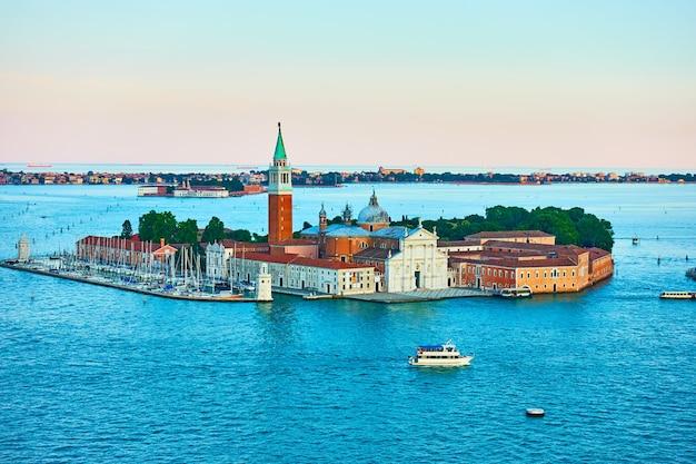 이탈리아 베니스의 산 조르지오 섬. 베네치아 풍경