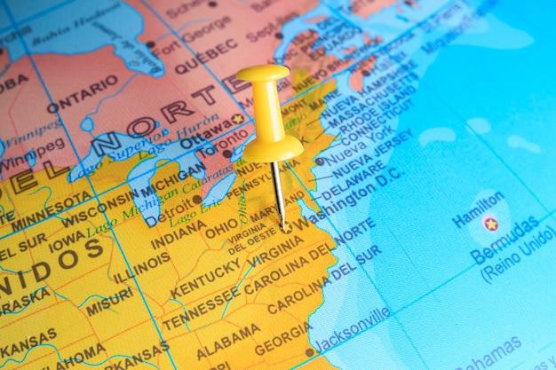 Сан-хосе на карте америки