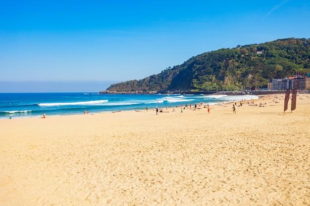 스페인 북부 바스크 지방 도노스티아의 산세바스티안 해변