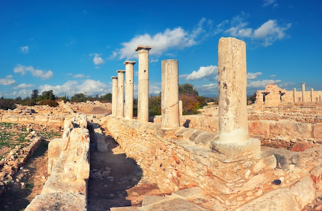 The sanctuary of apollo hyllates in cyprus, greece