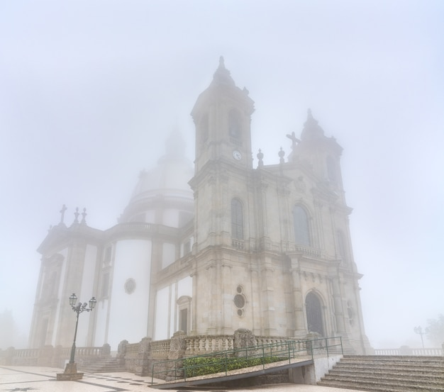 The sanctuary of our lady of sameiro near braga in portugal