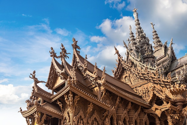 Sanctuary of truth in pattaya, thailand