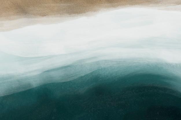 모래와 바다 수채화 질감 배경