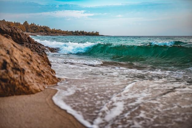 Sand beach in greece