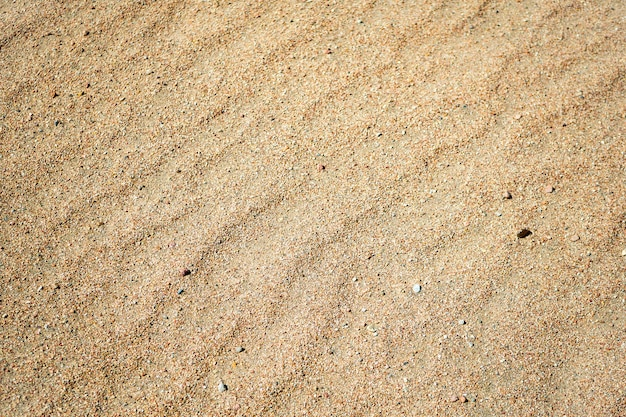 Sand on the beach at sunny day