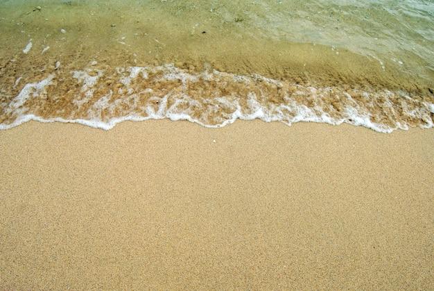 Sand beach with waves
