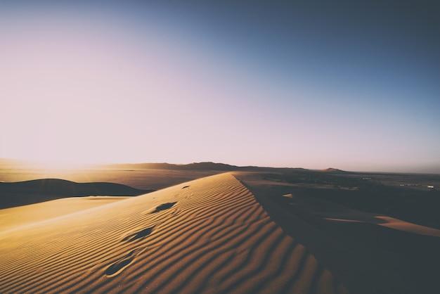 낮 동안 모래 언덕