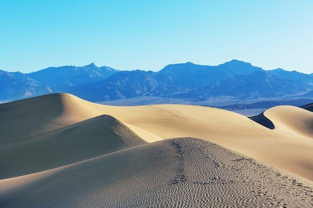 Sand dunes in california, usa. beautiful nature landscape