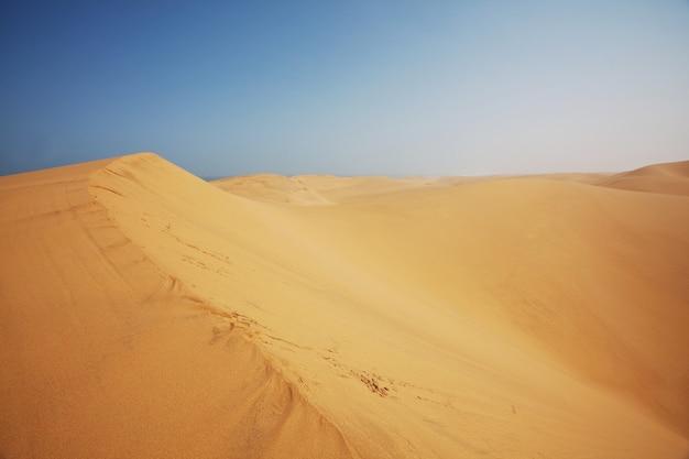 Песчаные дюны в пустыне намиб