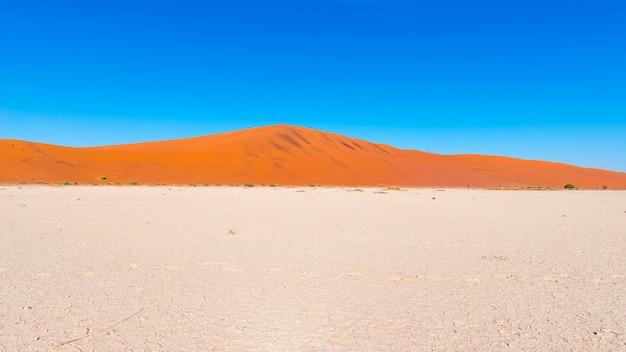 Sand dunes namib desert, namib naukluft national park, travel destination in namibia, africa.