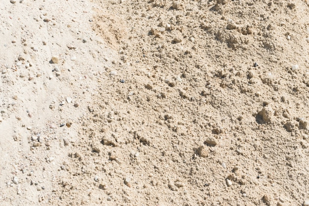 Sand, gravel and pebbles mix for construction
