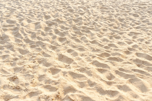 Sand pattern texture in tropical beach as background. outdoor beach in summer.