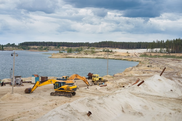 Sand quarry mining industry