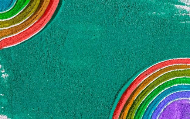 Sand rainbow. multicolored sand.