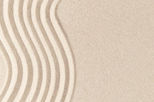모래 표면 질감 배경 선과 평화 개념
