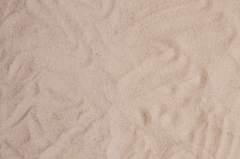 Sand surface with abstract forms