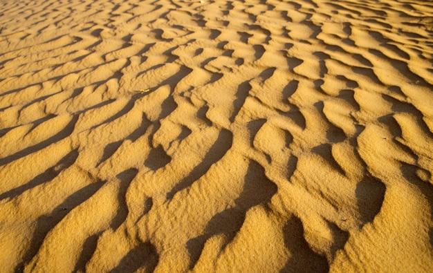 골드 사막에서 모래 질감