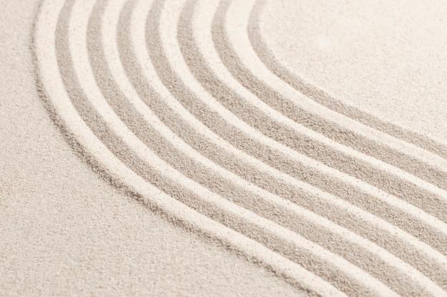 Fondo strutturato della natura dell'onda della sabbia nel concetto di benessere