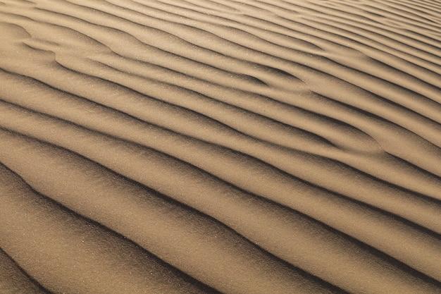 砂漠の砂の波