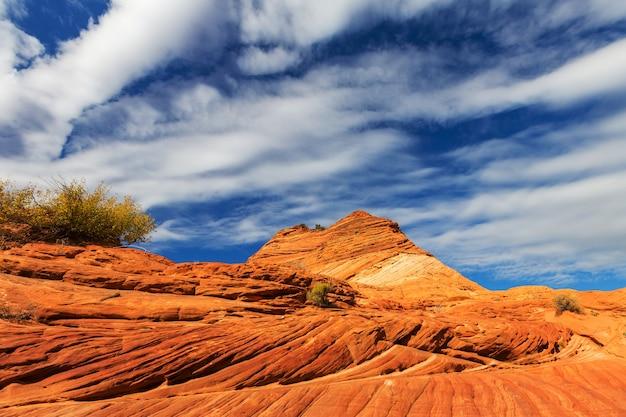 미국 유타 주에있는 사암 구조물. 아름다운 비정상적인 풍경.