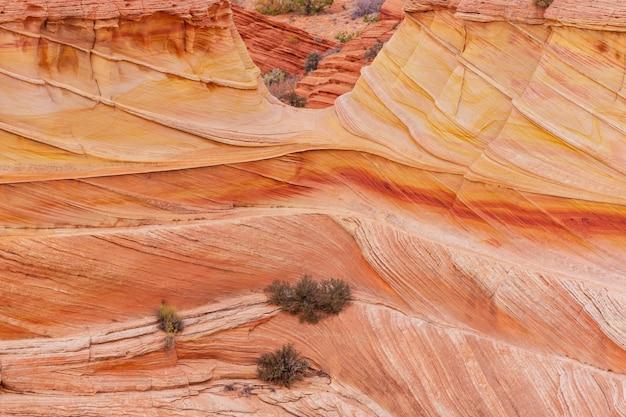 米国ユタ州の砂岩層