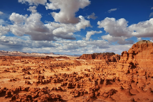 Sandstone formations in utah, usa. beautiful unusual landscapes.