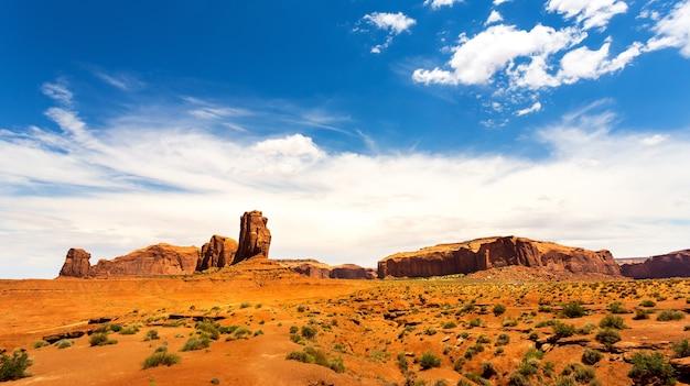 モニュメントバレーの砂岩の風景
