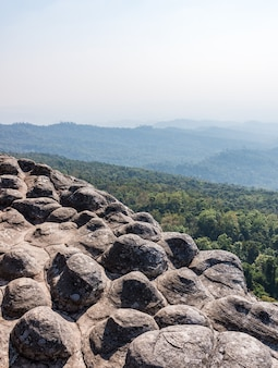 Sandstone node cliff