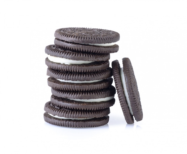 Sandwich cookies with cream