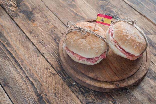 Sandwich of ham (jamon iberico)