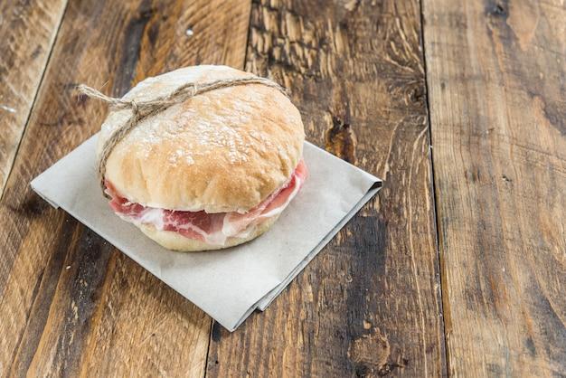 Sandwich of ham