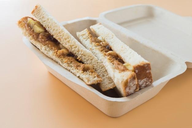 ピーナッツバターとバナナのサンドイッチ