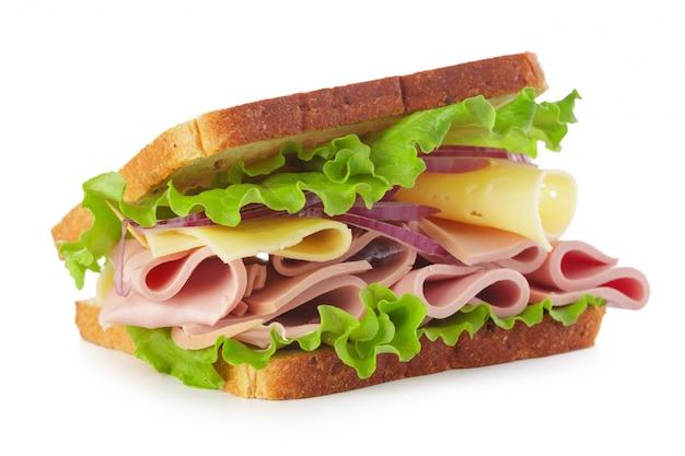 Бутерброд на белом